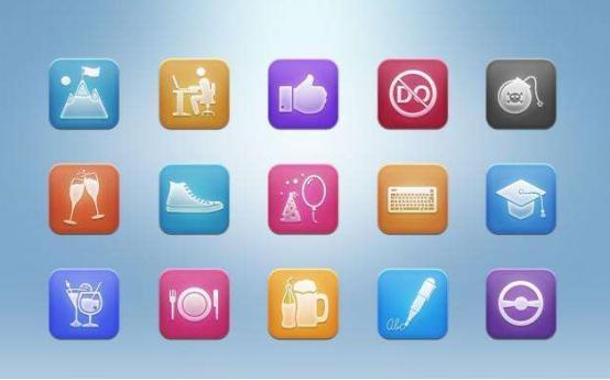 UI设计教程之常见的APP小图标类型以及用途梳理